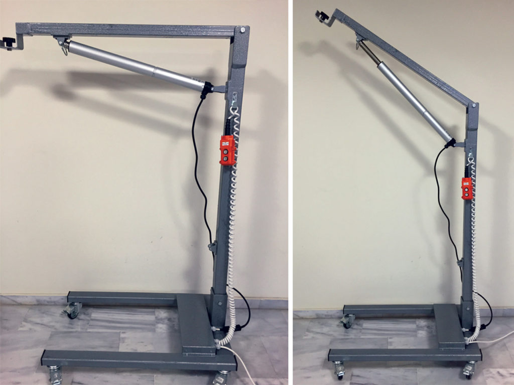 Κατασκευή τροχήλατης βάσης για φορητό x-ray