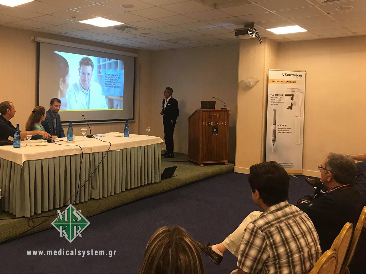 Mario Millazzo σε εκπαιδευτική ημερίδα του οδοντιατρικού συλλόγου Πρέβεζας για την ψηφιακή απεικόνιση και το 3D στην οδοντιατρική