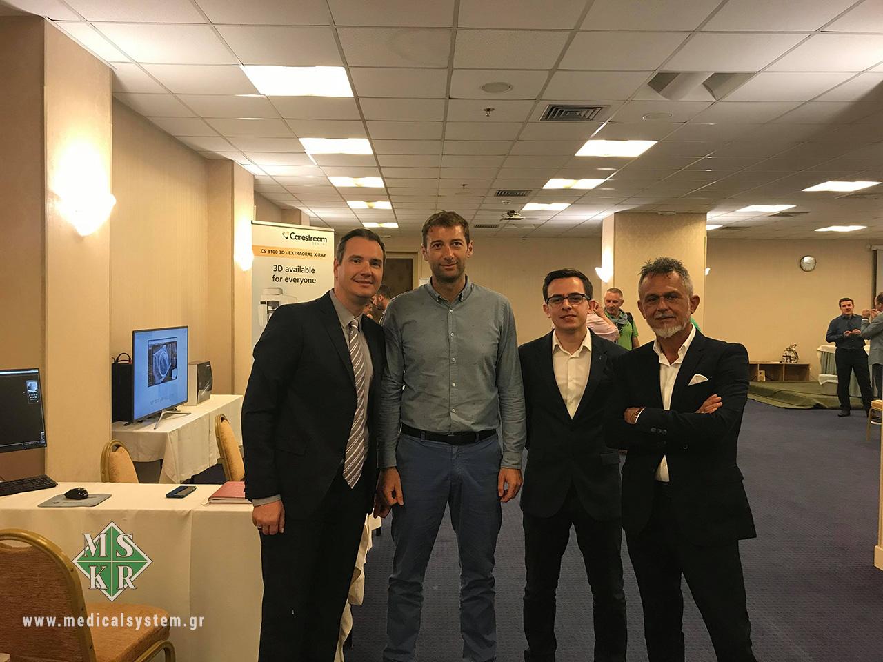 Στελέχη Medical Systems με τον συνεργάτη κ. Mario Millazzo από την Carestream Dental