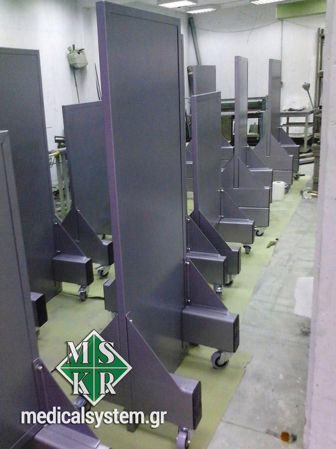 Τροχήλατα ακτινοπροστατευτικά πετάσματα από την Medical Systems