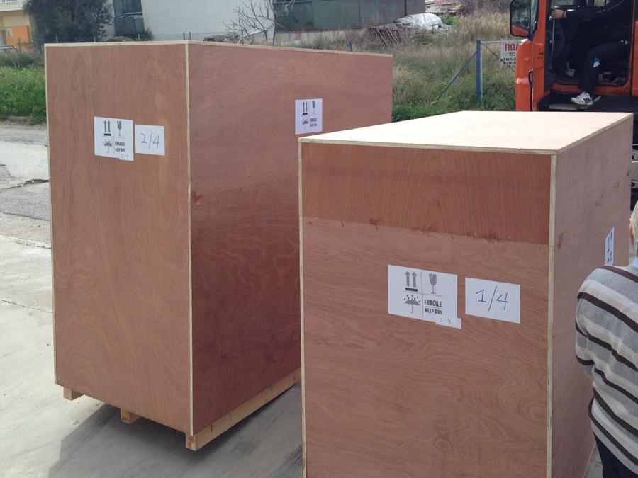 Ξύλινα κιβώτια με φορητά ακτινοπροστατευτικά πετάσματα από την Medical Systems