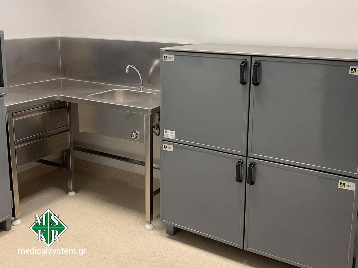 Εξοπλισμός hot lab κρύπτες ραδιοϊσοτόπων
