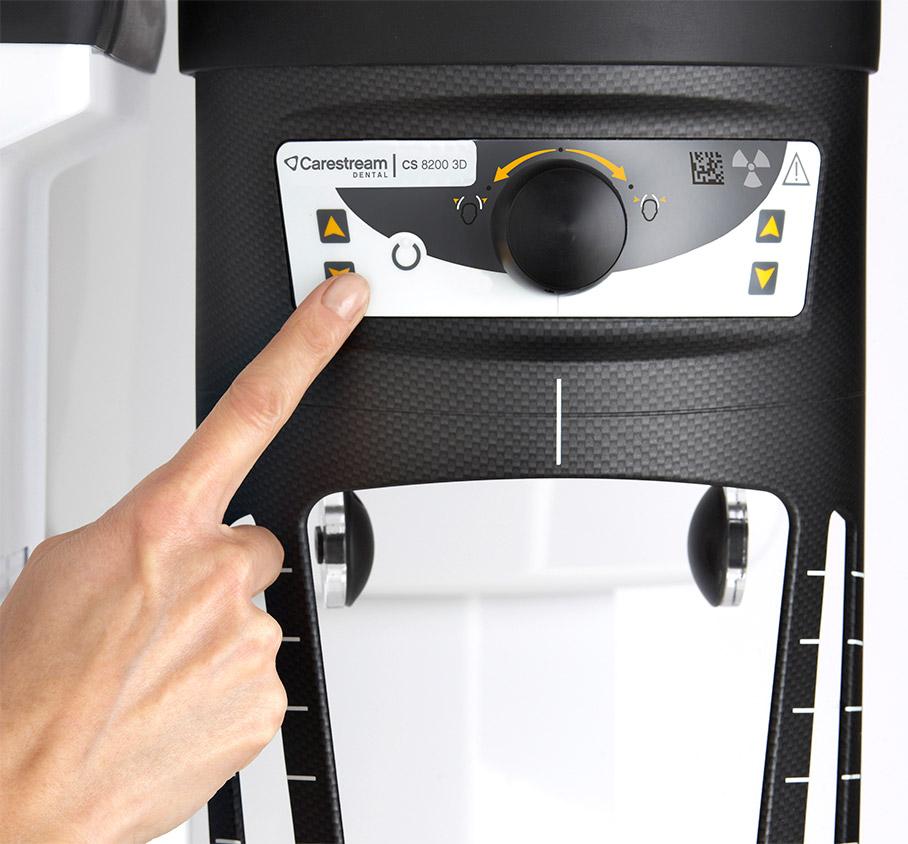 Λεπτομέρεια από το πανοραμικό 3D της Carestream Dental CS 8200