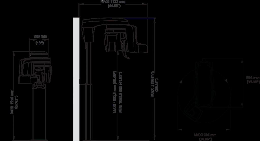Διαστάσεις CS 8200 3D